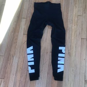 PINK leggings black and white - size small